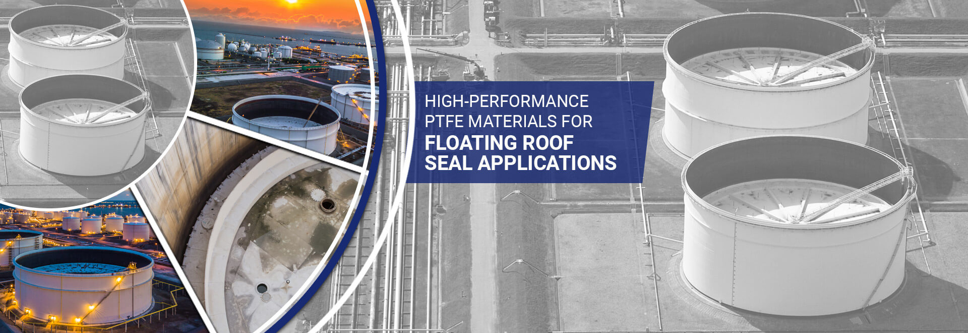 ptfe tank sealing materials, floating roof seal, wiper seal, crossfilm, tank liner, ptfe/fiberglass materials, ptfe fiberglass, vapor barriers, tank seals, wiper tips, ptfe leg socks